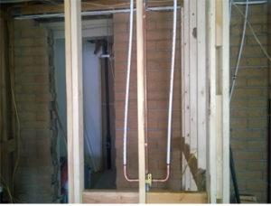 small plumbing remodel