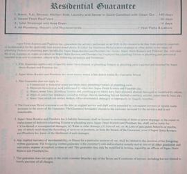 best plumbing guarantee